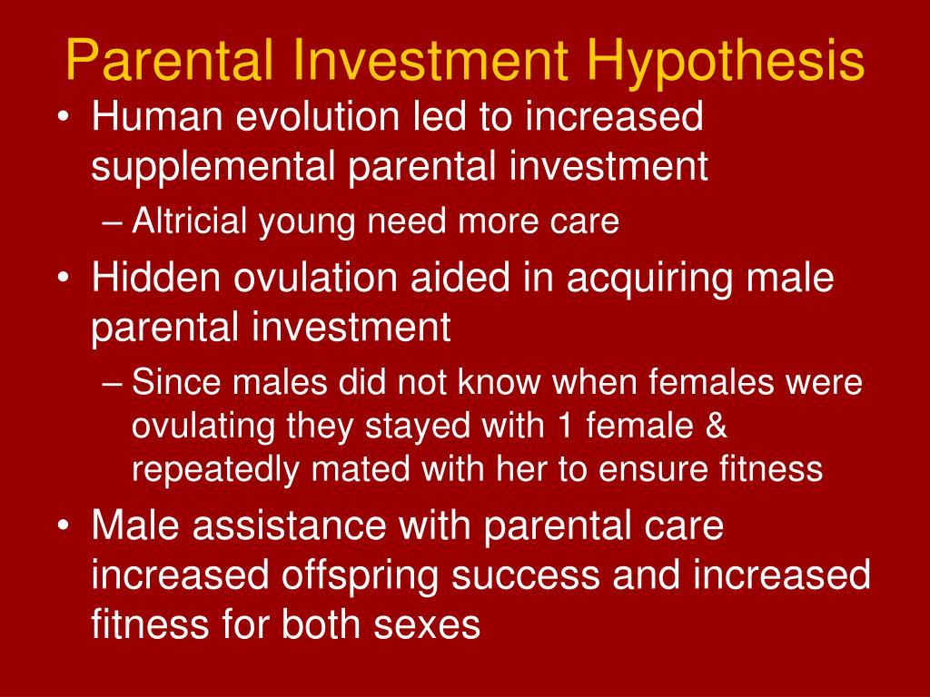 Parental Investment Hypothesis