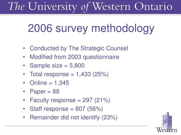 2006 survey methodology