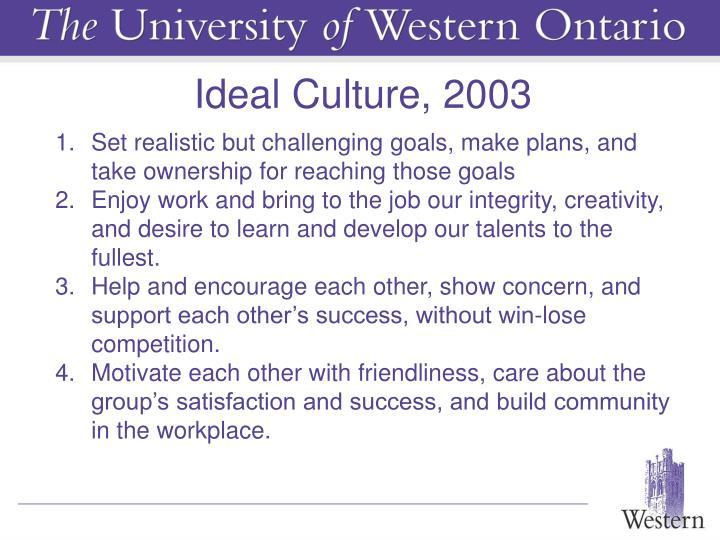 Ideal Culture, 2003