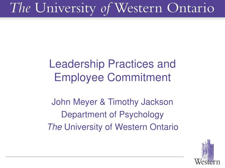 Leadership Practices and
