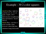 example 30 2 color squares