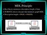 mdl principle