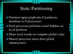static partitioning