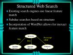 structured web search