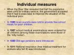 individual measures