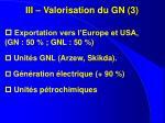 iii valorisation du gn 3