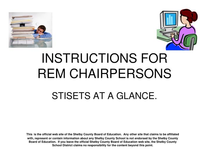 instructions for rem chairpersons n.