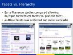 facets vs hierarchy