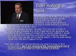 elder holland cont