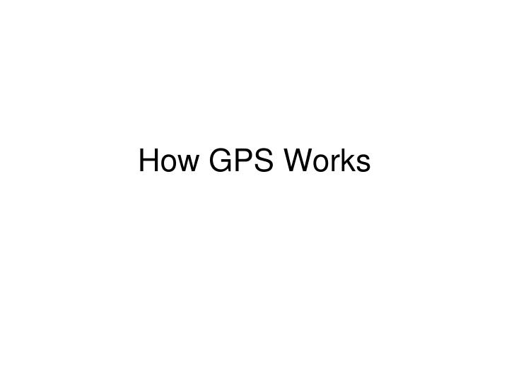 how gps works n.