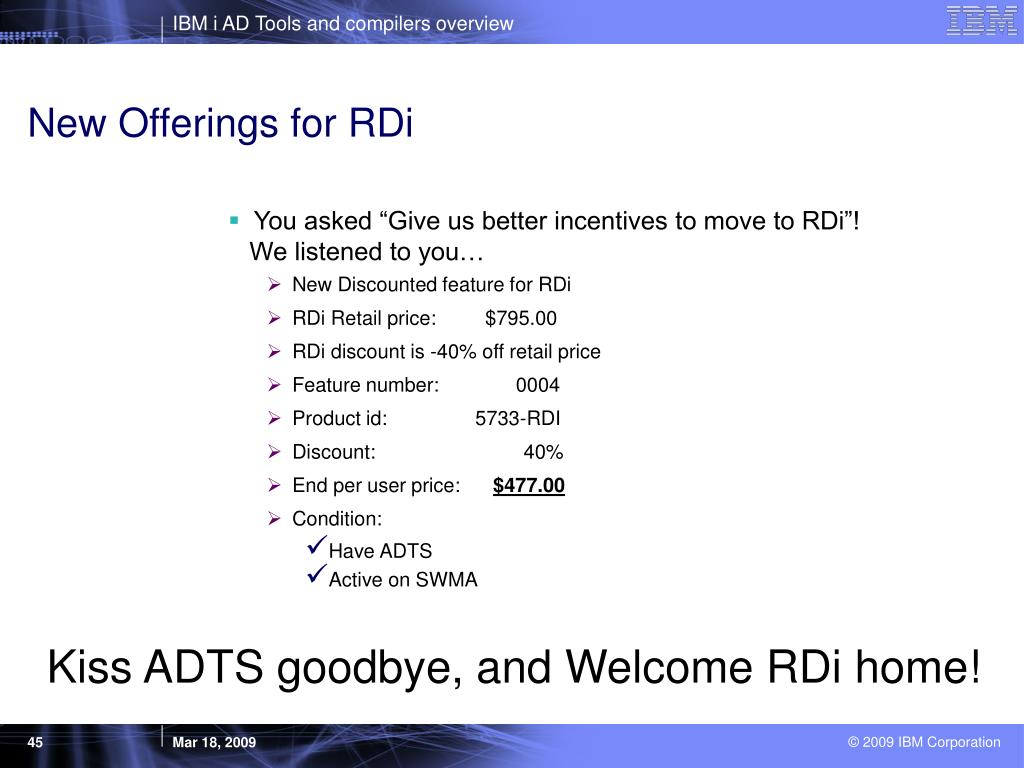 New Offerings for RDi