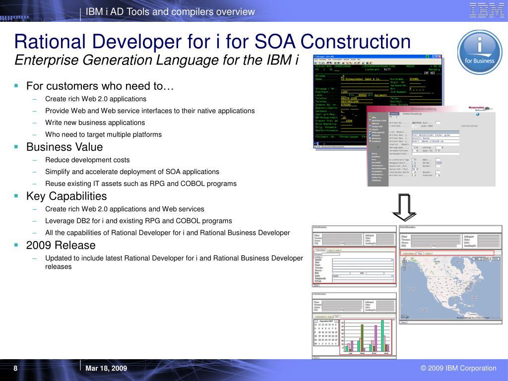 Rational Developer for i for SOA Construction