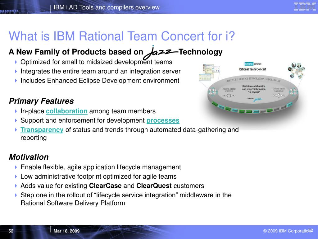 What is IBM Rational Team Concert for i?