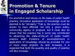 promotion tenure in engaged scholarship1