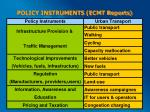 policy instruments ecmt reports