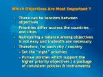 which objectives are most important