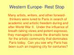 western europe rest stop4