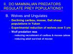ii do mammalian predators regulate prey populations9