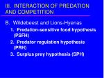 iii interaction of predation and competition13