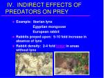 iv indirect effects of predators on prey16