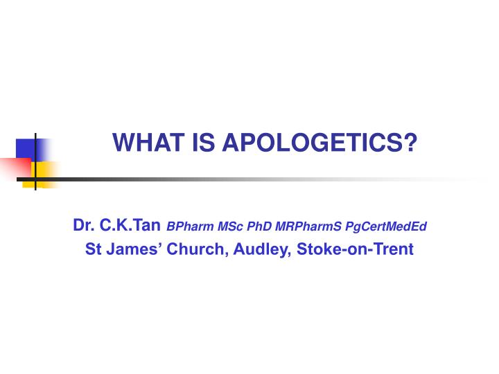 what is apologetics n.