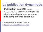 la publication dynamique