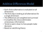 additive differences model