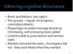silencing cognitive dissonance
