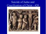 suicide of judas and crucification of christ 420