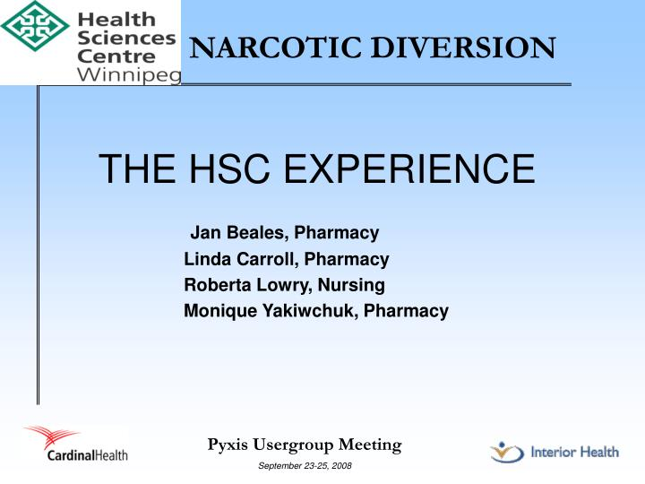 PPT NARCOTIC DIVERSION PowerPoint Presentation ID 997344