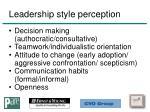 leadership style perception