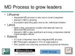 md process to grow leaders