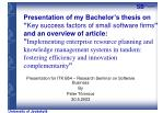 presentation for itk b54 research seminar on software business by peter t rnroos 20 5 2003