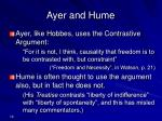 ayer and hume