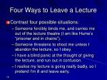 four ways to leave a lecture