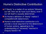 hume s distinctive contribution