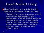 hume s notion of liberty