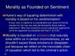 morality as founded on sentiment
