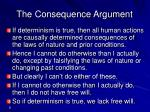 the consequence argument