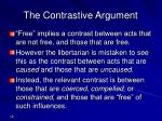 the contrastive argument