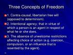 three concepts of freedom