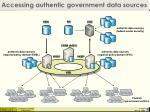 accessing authentic government data sources