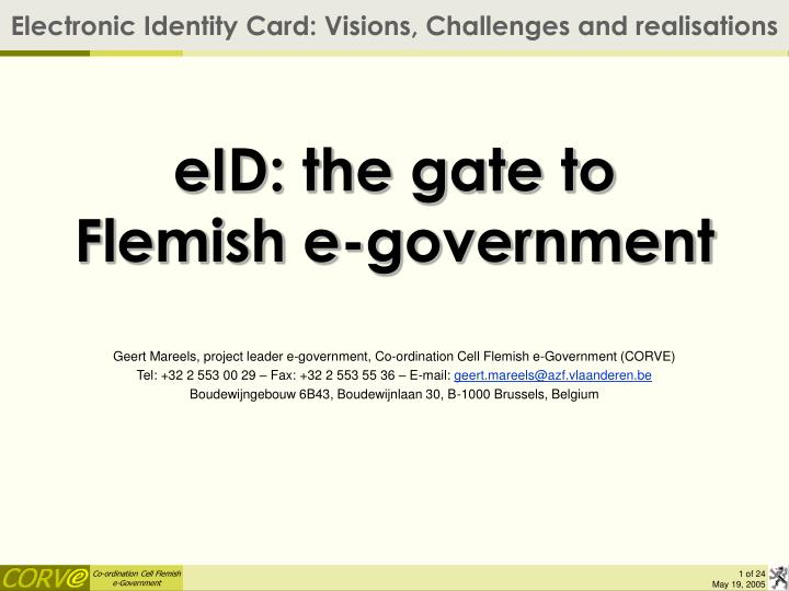 eid the gate to flemish e government n.