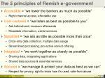 the 5 principles of flemish e government