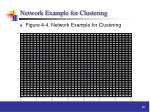 network example for clustering