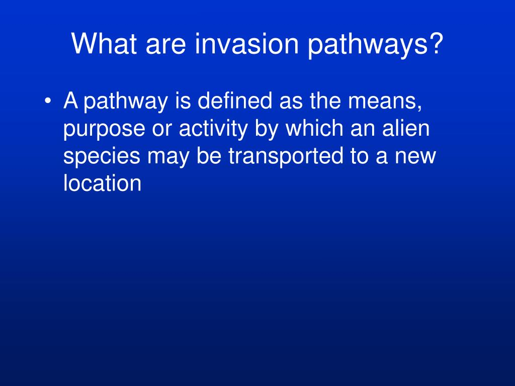 What are invasion pathways?