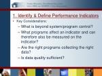 1 identify define performance indicators1