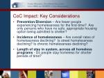 coc impact key considerations