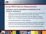using hmis data for measurement