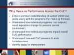 why measure performance across the coc